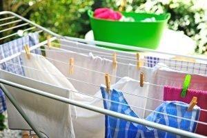Wäsche trocknen frische Luft