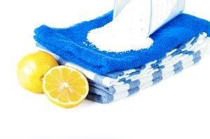 zitronen handtücher waschpulver
