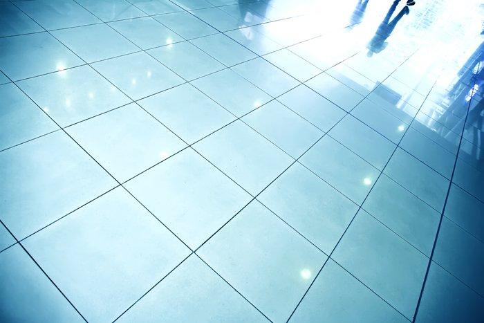 saubere, blaue fliesen